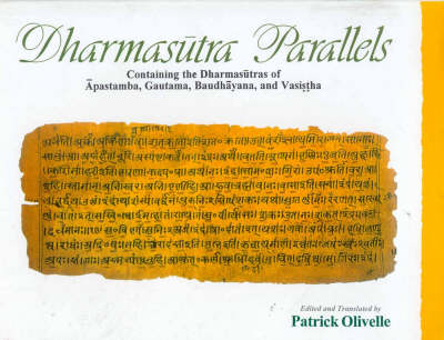Dharmasutra Parallels - Sources of Ancient Indian Law S. No. 3 (Hardback)