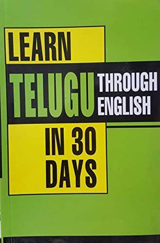Learn Telugu in 30 Days Through English (Paperback)