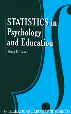 Statistics in Psychology and Education (Hardback)