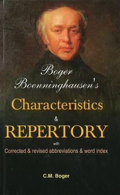 Boger Boenninghausen's Characteristics & Repertory (Paperback)