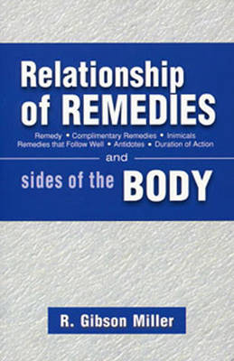 Relationship of Remedies: Sides of the Body (Paperback)