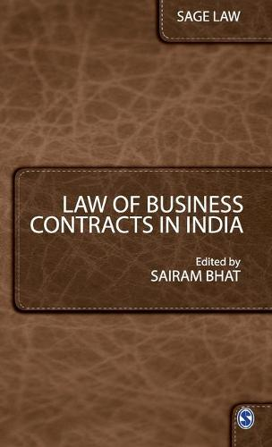 Law of Business Contracts in India - Sage Law (Hardback)