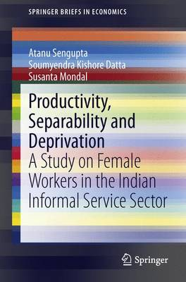 Productivity, Separability and Deprivation: A Study on Female Workers in the Indian Informal Service Sector - SpringerBriefs in Economics (Paperback)