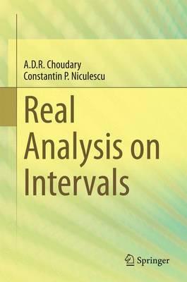 Real Analysis on Intervals (Hardback)