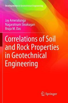 Correlations of Soil and Rock Properties in Geotechnical Engineering - Developments in Geotechnical Engineering (Paperback)