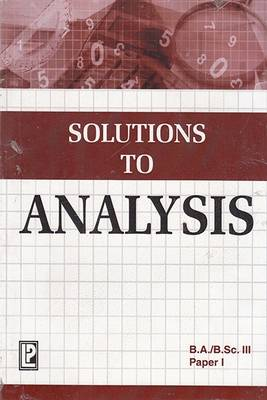 Solutions to Analysis (Paperback)