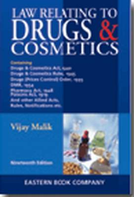 Law Relating to Drugs and Cosmetics (Hardback)