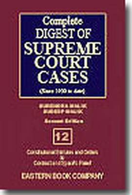 Complete Digest of Supreme Court Cases: Since 1950 to Date v. 12 (Hardback)
