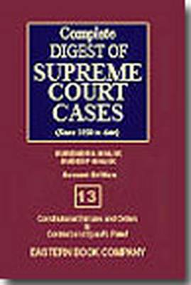 Complete Digest of Supreme Court Cases: Since 1950 to Date v. 13 (Hardback)