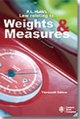 P.L. Malik's Law Relating to Weights and Measures (Paperback)
