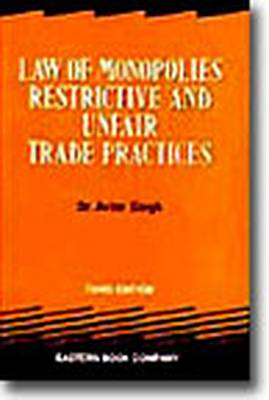Law of Monopolies, Restrictive and Unfair Trade Practices (Paperback)