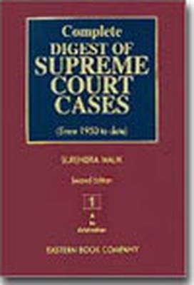 Complete Digest of Supreme Court Cases: Since 1950 to Date v. 1 (Hardback)