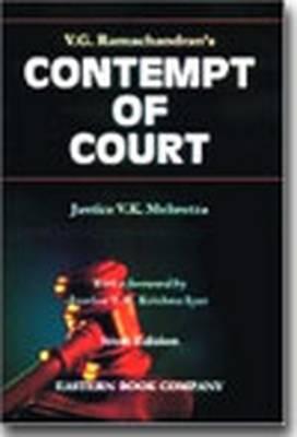 V.G. Ramachandran's Contempt of Court: with Supplement (Hardback)