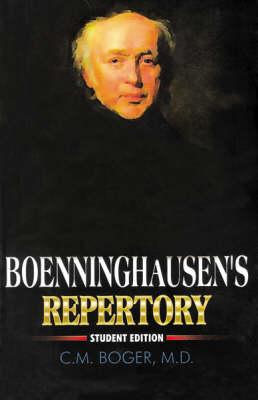 Boeninghausen's Characteristic Matera Medica and Repertory (Hardback)