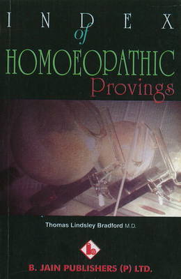 Index of Homoeopathic Provings (Paperback)