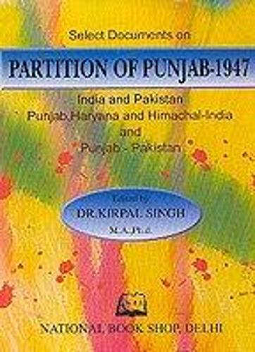 Select Documents on the Partition of the Punjab 1947 (Hardback)
