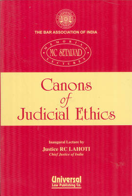Cannon's of Judicial Ethics (Paperback)
