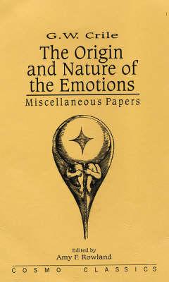 Origin and Nature of Emotions (Hardback)