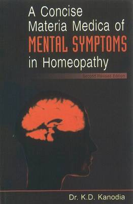 A Concise Materia Medica of Mental Symptoms in Homeopathy (Paperback)
