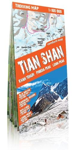 Tian Shan Laminated 2014: TQU.098 (Sheet map, folded)