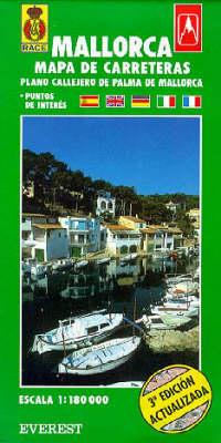 Provinical Map of Mallorca with a Plan of Palma De Mallorca (Paperback)