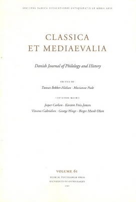 Classica et Mediaevalia: v. 61: Danish Journal of Philology & History (Paperback)