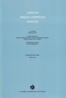 Lexicon Mediae Latinitatis Danicae: 8 -- risus-zona (Paperback)
