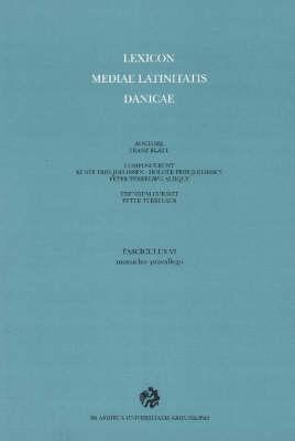 Lexicon Mediae Latinitatis Danicae 6: Monacho-Praeallego (Paperback)