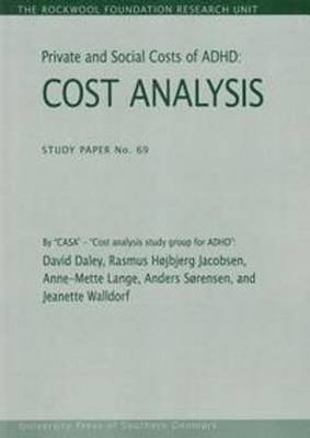 Private & Social Costs of ADHD: Cost Analysis (Paperback)