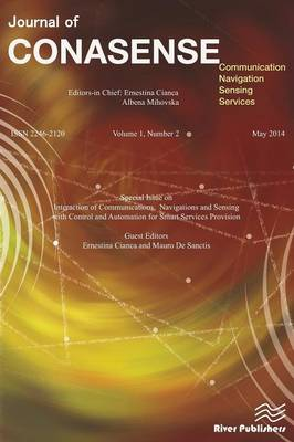 Journal of Conasense 1-2; Interaction of Communications, Navigations and Sensing with Control and Automation for Smart Services Provision (Paperback)