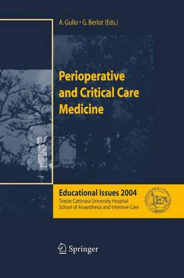 Perioperative and Critical Care Medicine: Educational Issues 2004 (Paperback)