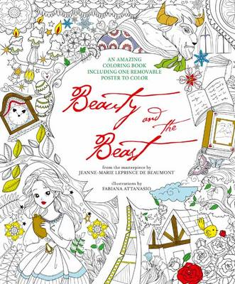 Beauty And The Beast Colouring Book Removable Poster Paperback