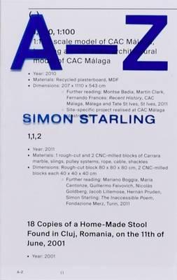 Simon Starling: A-Z (Paperback)
