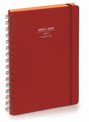 Nava 2016 Diary Weekly Small Red (Spiral bound)