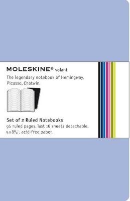 Moleskine Volant Large Ruled Antwerp Blue & Prussian Blue 2-set - Moleskine Volant