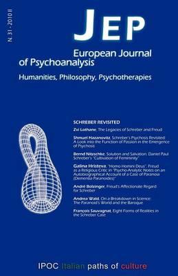 JEP European Journal of Psychoanalysis 31 (Paperback)