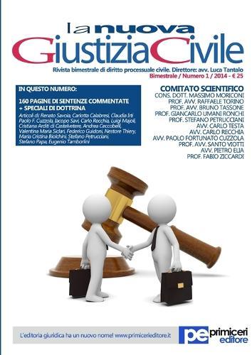 La Nuova Giustizia Civile (01/2014) (Paperback)