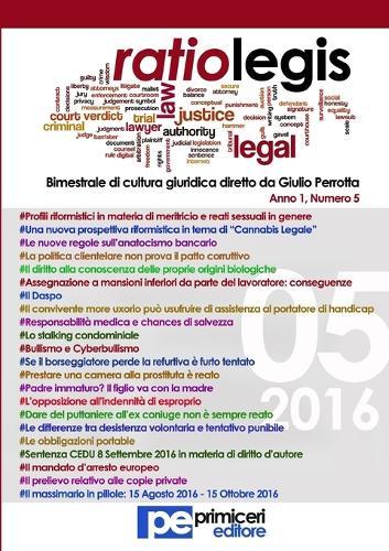 Ratio Legis (Numero 5, Anno 2016) (Paperback)