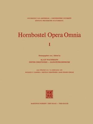 Hornbostel Opera Omnia - Hornborstel Opera Omnia 1 (Hardback)