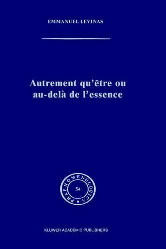 Temporary Title 19991103 - Phaenomenologica 54 (Hardback)