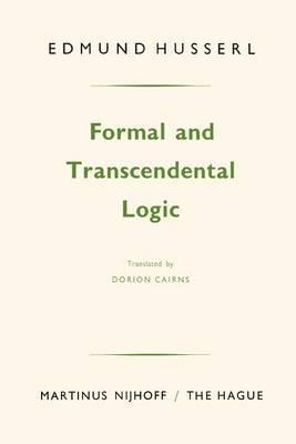Formal and Transcendental Logic (Paperback)