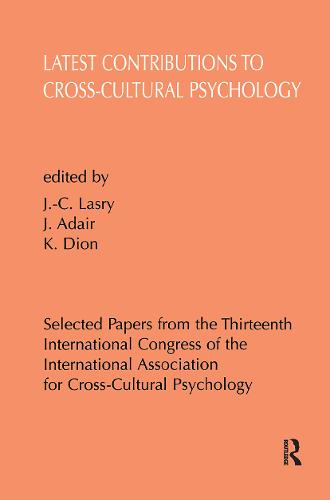 Latest Contributions to Cross-cultural Psychology (Hardback)