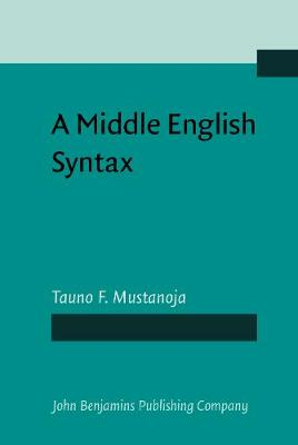 A Middle English Syntax: Parts of speech (Hardback)
