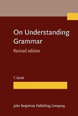 On Understanding Grammar (Hardback)