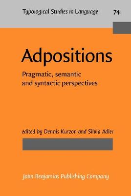 Adpositions: Pragmatic, semantic and syntactic perspectives - Typological Studies in Language 74 (Hardback)