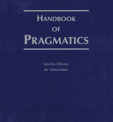 Handbook of Pragmatics: 2008 Installment - Handbook of Pragmatics 12