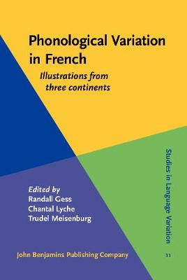Phonological Variation in French: Illustrations from three continents - Studies in Language Variation 11 (Hardback)