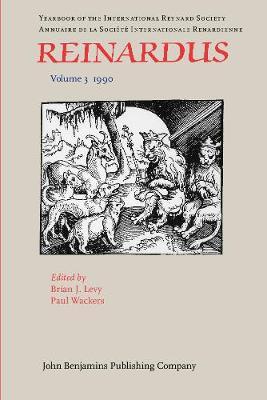 Reinardus: v. 3: Year Book of the International Reynard Society - Reinardus 3 (Paperback)