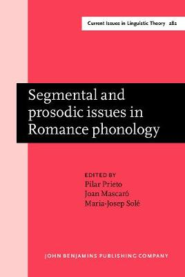 Segmental and prosodic issues in Romance phonology - Current Issues in Linguistic Theory 282 (Hardback)
