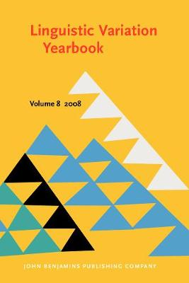 Linguistic Variation Yearbook 2008 - Linguistic Variation Yearbook 8 (Paperback)